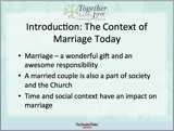 Catholic marriage preparation presentation sample